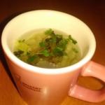 春スープ:レンジでチン!